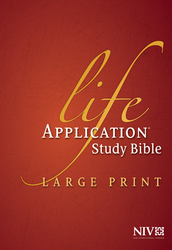 NIV Life Application Study Bible, Second Edition, Large Print (Red Letter, Hardcover, Indexed)