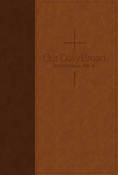 Our Daily Bread Devotional Bible NLT, TuTone (LeatherLike, Brown/Tan)