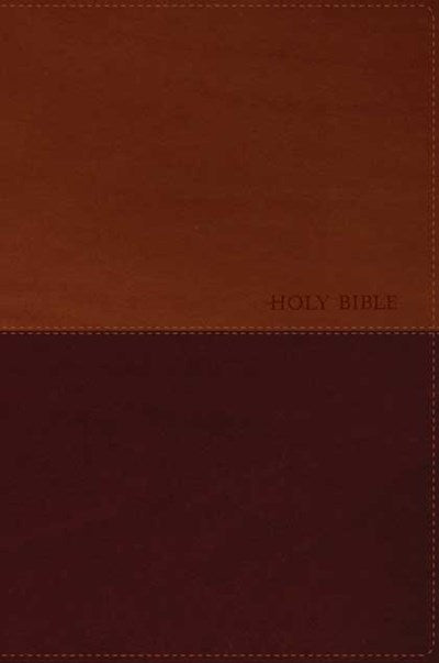 Holy Bible NLT, Personal Size Large Print edition, TuTone (Red Letter, LeatherLike, Brown/Tan, Indexed)