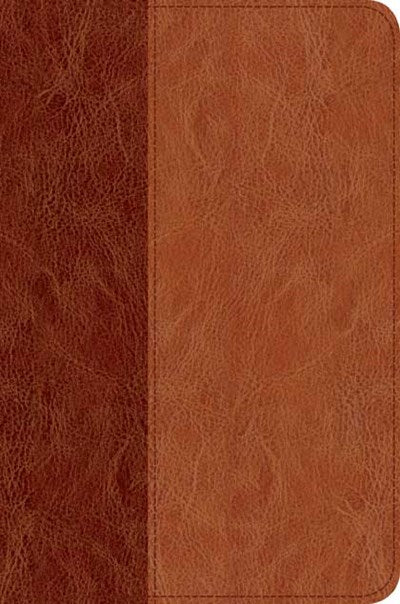Slimline Center Column Reference Bible NLT, TuTone (LeatherLike, Brown/Tan, Indexed)