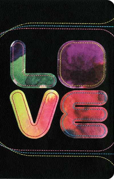 Teen Life Application Study Bible NLT LOVE (LeatherLike, Black/Tie Dye)