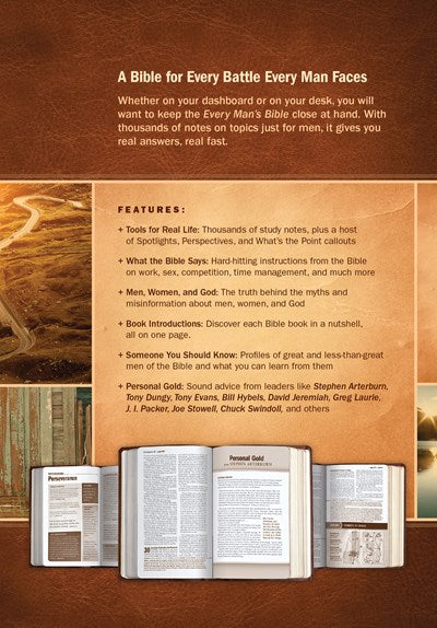 Every Man's Bible NIV, Deluxe Heritage Edition, TuTone (LeatherLike, Brown/Tan)