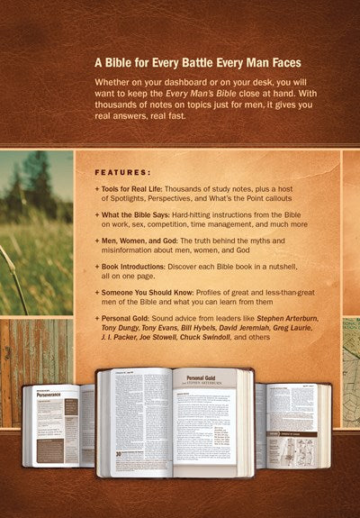 Every Man's Bible NIV, Deluxe Journeyman Edition (LeatherLike, Tan)