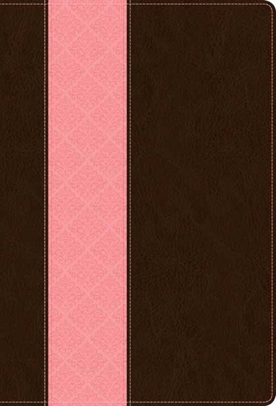 NIV Life Application Study Bible, Second Edition, TuTone (Red Letter, LeatherLike, Dark Brown/Pink)