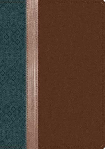 Beyond Suffering Bible NLT, TuTone (LeatherLike, Teal/Brown/Rose Gold)