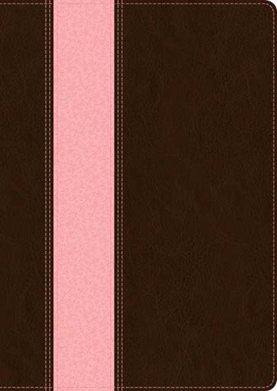 NLT Study Bible, TuTone (Red Letter, LeatherLike, Dark Brown/Pink)