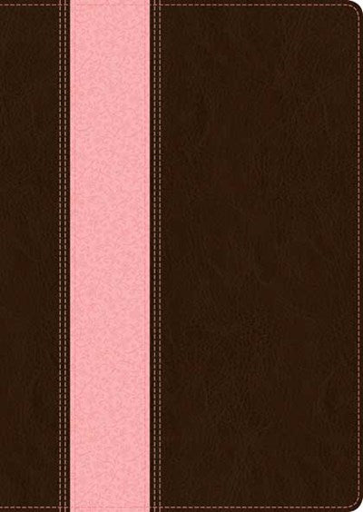 NLT Study Bible, TuTone (Red Letter, LeatherLike, Dark Brown/Pink, Indexed)