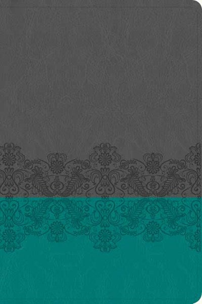 NLT Life Application Study Bible, Second Edition, Personal Size (LeatherLike, Gray Lace/Juniper)