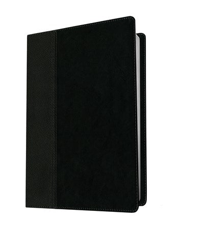 Premium Slimline Reference Bible NLT, Large Print, TuTone (Red Letter, LeatherLike, Black/Onyx)