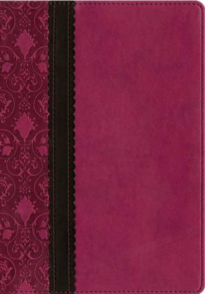Slimline Reference Bible NLT, TuTone (Red Letter, LeatherLike, Rich Raspberry/Brown/Dark Brown)