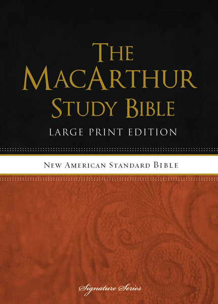 The NASB, MacArthur Study Bible, Large Print,  Hardcover