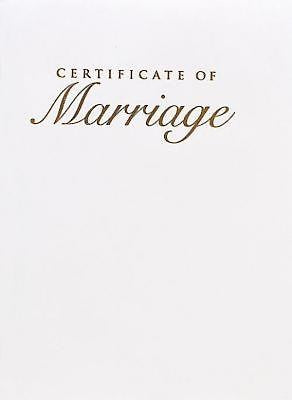 Abingdon Select Collection Marriage Gold Certificate