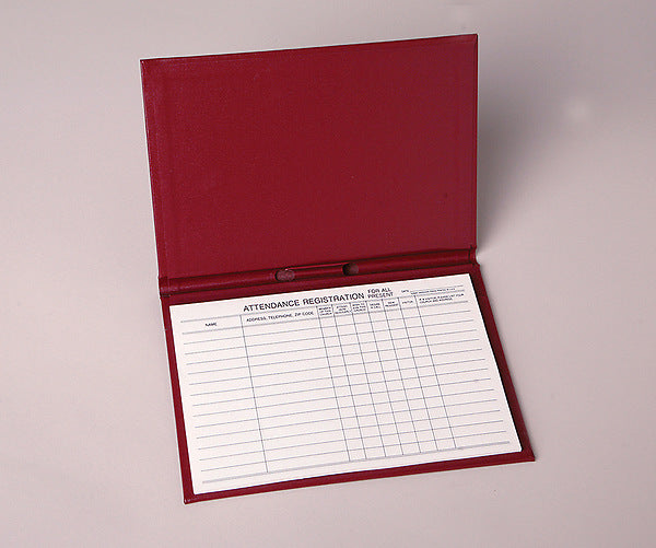 Attendance Registration Pad Holder - Red Cloth (Pkg of 3)