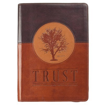 Trust Zippered Classic LuxLeather Journal -  Jeremiah 17:7
