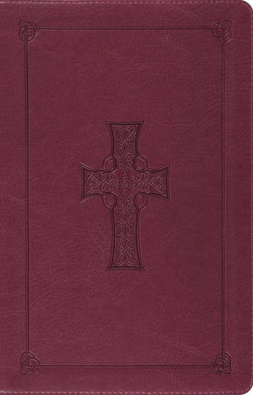 ESV Large Print Thinline Reference Bible (TruTone, Burgundy, Celtic Cross Design)