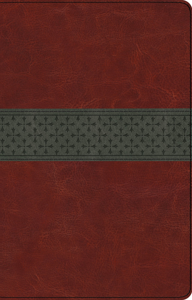 ESV Large Print Thinline Reference Bible (TruTone, Walnut/Slate, Crossband Design)