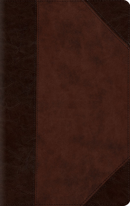 ESV Large Print Compact Bible (TruTone, Brown/Walnut, Portfolio Design)