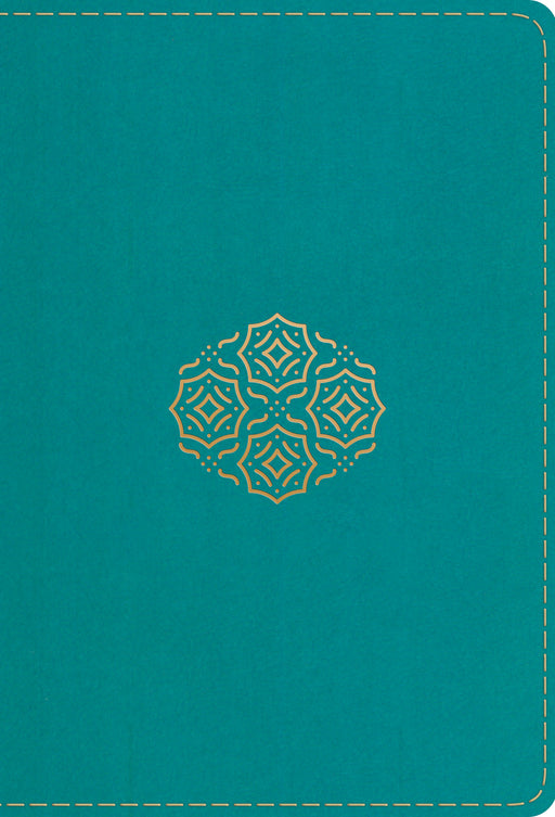ESV Large Print Compact Bible (TruTone, Teal, Bouquet Design)