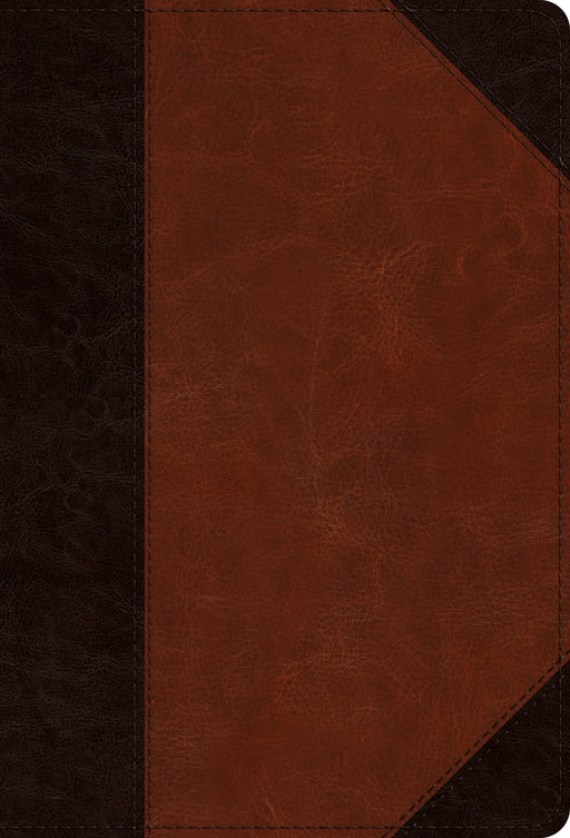ESV Large Print Compact Bible (TruTone, Brown/Cordovan, Portfolio Design)