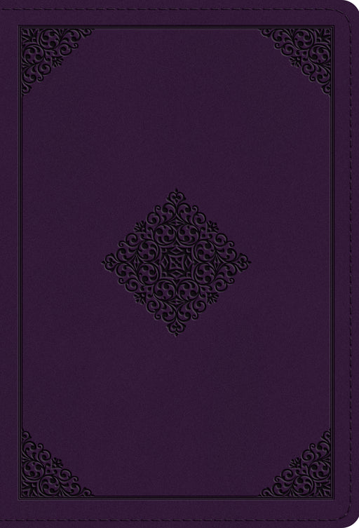 ESV Large Print Compact Bible (TruTone, Lavender, Ornament Design)