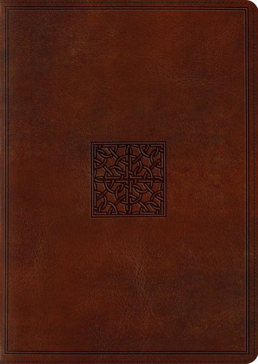 ESV Study Bible, Large Print (TruTone, Walnut, Celtic Imprint Design)