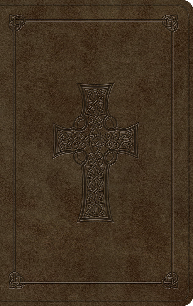 ESV Large Print Thinline Bible (TruTone, Olive, Celtic Cross Design)