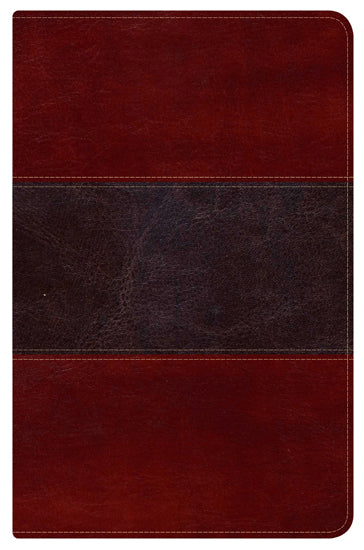 HCSB Ultrathin Reference Bible, Mahogany LeatherTouch Indexed