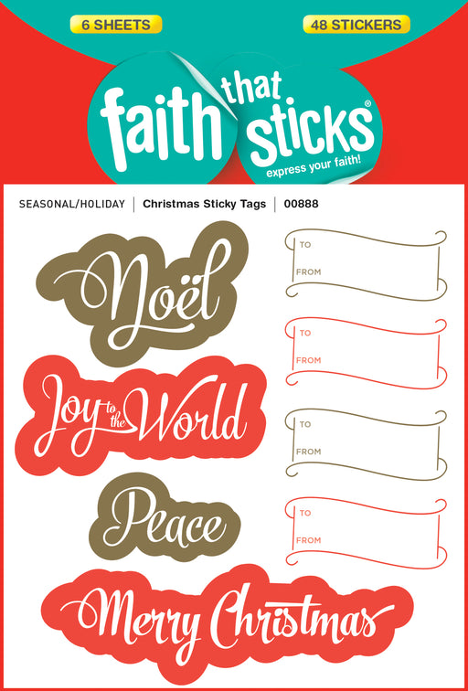 Christmas Sticky Tags