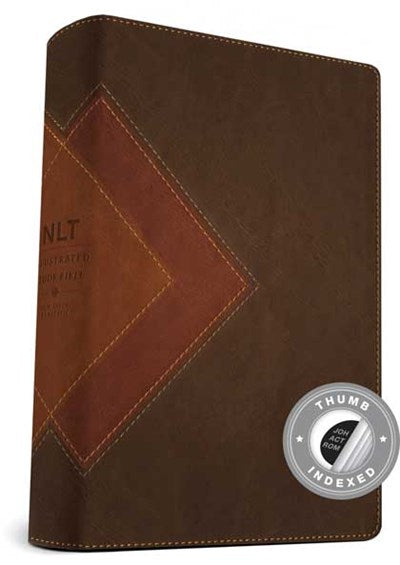 Illustrated Study Bible NLT, TuTone (LeatherLike, Brown/Tan, Indexed)