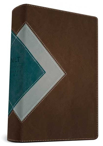 Illustrated Study Bible NLT, TuTone (LeatherLike, Teal/Chocolate)