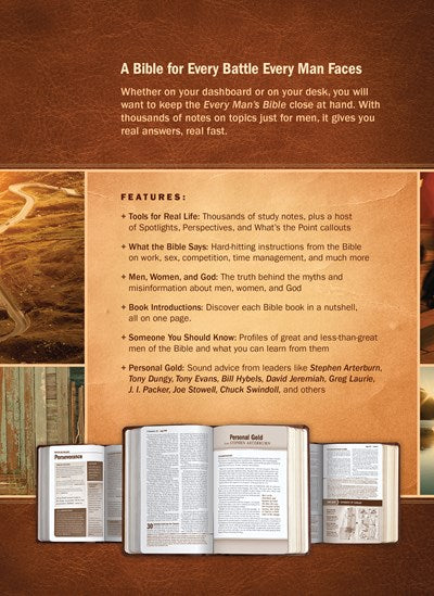 Every Man's Bible NIV, Large Print, TuTone (LeatherLike, Black/Tan)