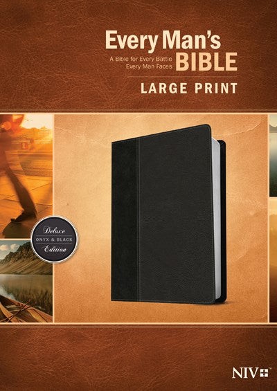 Every Man's Bible NIV, Large Print, TuTone (LeatherLike, Onyx/Black)