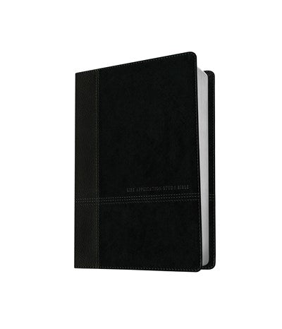 NIV Life Application Study Bible, Second Edition, Personal Size, TuTone (LeatherLike, Black/Onyx)