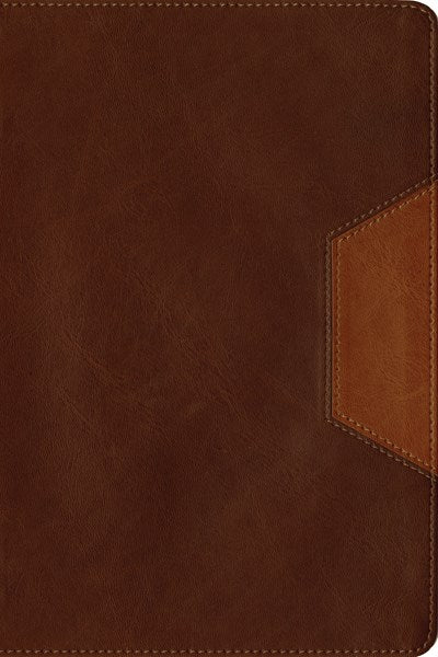 Christian Basics Bible NLT, TuTone (LeatherLike, Brown/Tan, Indexed)