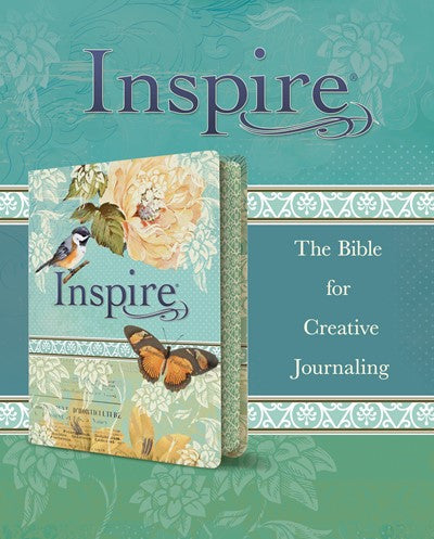 Inspire Bible NLT (LeatherLike, Vintage Blue/Cream)