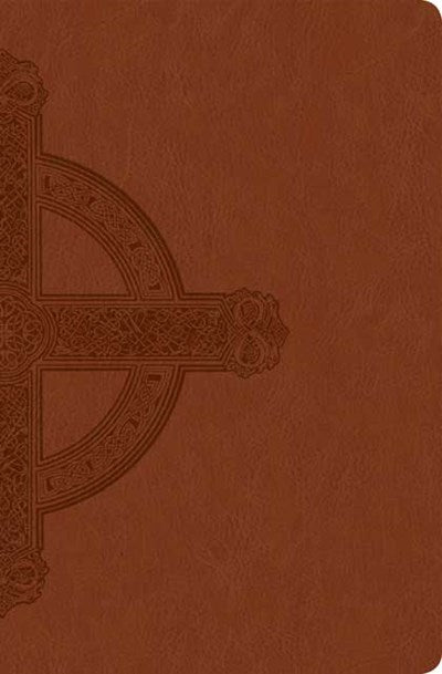 Premium Value Slimline Bible Large Print NLT, Cross (LeatherLike, Sienna)