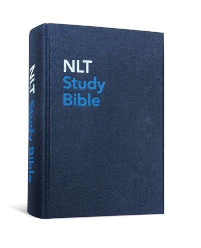 NLT Study Bible (Red Letter, Hardcover Cloth, Blue)