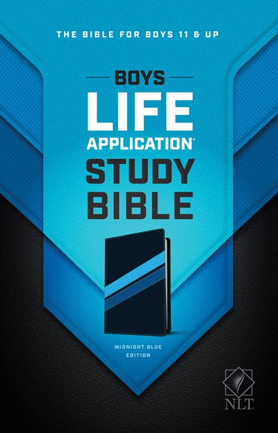 NLT Boys Life Application Study Bible, TuTone (LeatherLike, Midnight Blue)