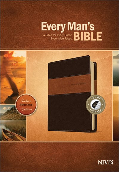 Every Man's Bible NIV, Deluxe Heritage Edition, TuTone (LeatherLike, Brown/Tan, Indexed)
