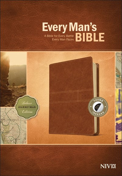 Every Man's Bible NIV, Deluxe Journeyman Edition (LeatherLike, Tan, Indexed)