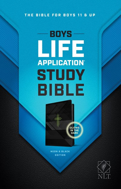 NLT Boys Life Application Study Bible, TuTone (LeatherLike, Neon/Black)