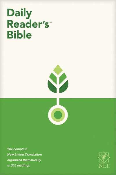 NLT Daily Reader's Bible (Red Letter, Softcover)