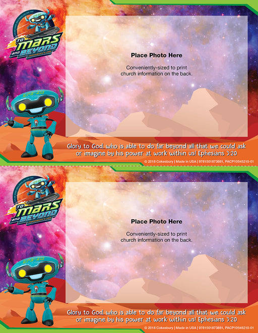 Vacation Bible School (VBS) To Mars and Beyond Follow-Up Photo Frames (Pkg of 48)