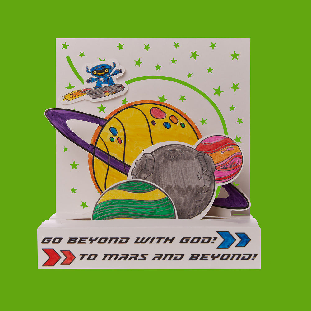 Vacation Bible School (VBS) To Mars and Beyond 3D Planet Scene Craft Kit (Pkg of 12)