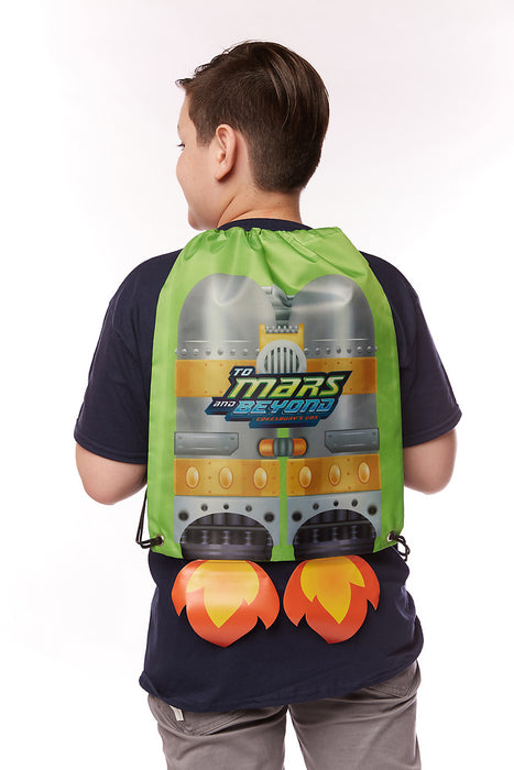 Vacation Bible School (VBS) To Mars and Beyond Jet Pack Drawstring Bag (Pkg of 6)
