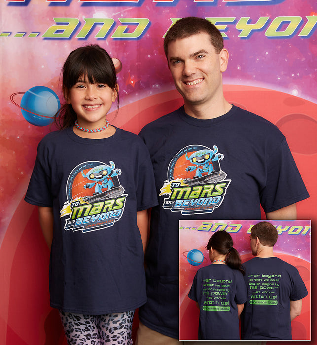 Vacation Bible School (VBS) To Mars and Beyond Leader T-Shirt Size Large