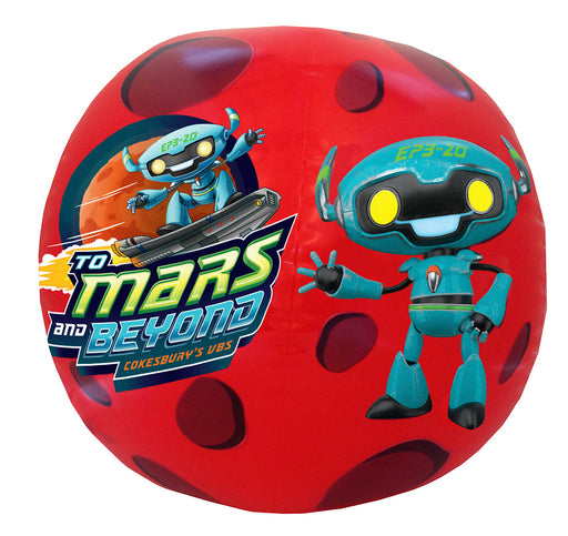 Vacation Bible School (VBS) To Mars and Beyond Inflatable Logo Ball (Pkg of 2)