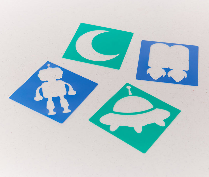 Vacation Bible School (VBS) To Mars and Beyond Space Stencils (Pkg of 12)