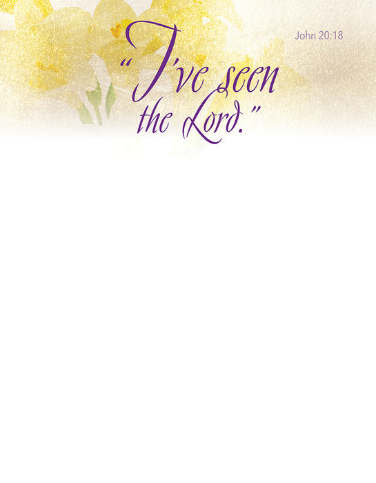 I've Seen Easter Lilies Letterhead (Pkg of 50)