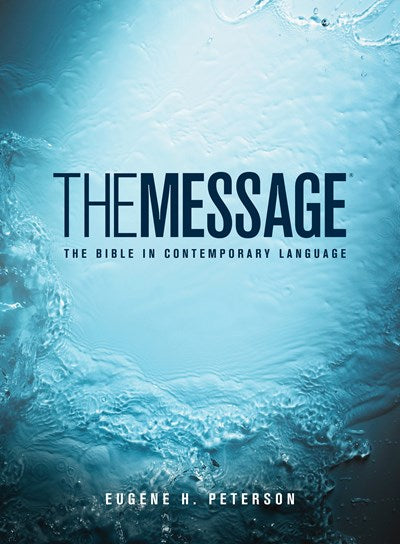 The Message Full Size (Hardcover, Blue Water)